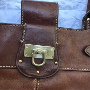 Leather document briefcase laptop career work